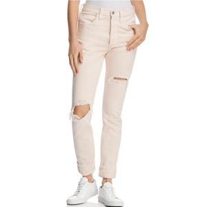 NWT Levi's 501 Pink Destroyed Skinny Jeans